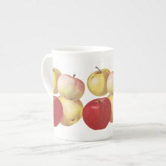 4 vintage apples illustrated mug