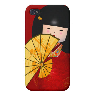 4 Vintage Retro Asian Girl iPhone 4 Cover