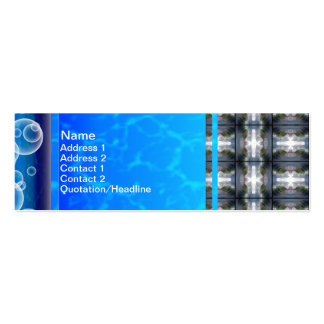 4 Waves Grid HDR Mini Business Card