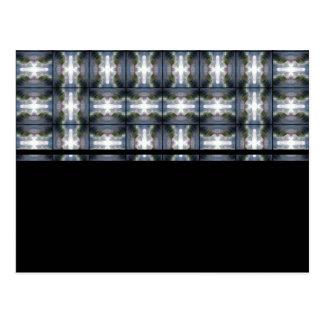 4 Waves Grid HDR Postcard