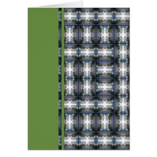 4 Waves Grid HDR Stationery Note Card