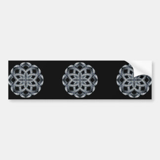 4 Waves Illusion Bumper Sticker