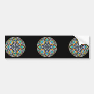 4 Waves Illusion Round Bumper Sticker