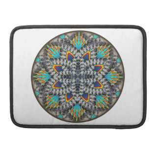 4 Waves Illusion Round Sleeves For MacBook Pro