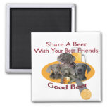 4 Weimaraners Share A Beer Gifts Refrigerator Magnet