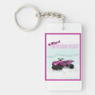 4 Wheel Princess Key Chain