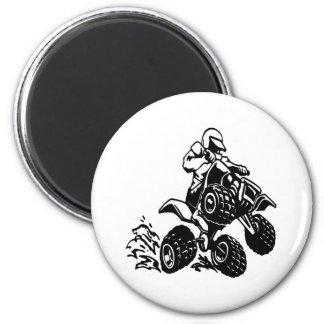 4 Wheel Quad Racing 2 Inch Round Magnet