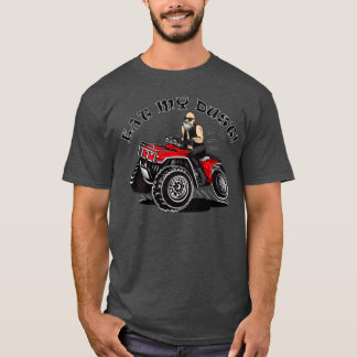 4 wheeler funny shirts with old man rider, quads
