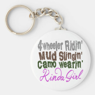 4 wheeler ridin mud slingin camo wearin kinda girl keychain