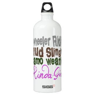 4 wheeler ridin mud slingin camo wearin kinda girl water bottle