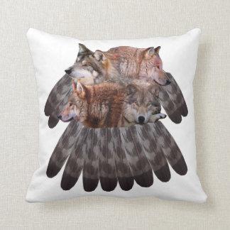 4 wolves dreamcatcher pillows