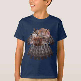 4 wolves dreamcatcher Youth t-shirt