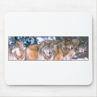 4 Wolves Mouse Pad