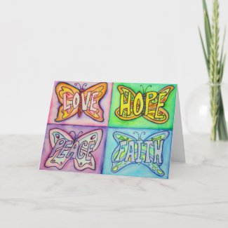 4 Words Butterfly Wings Art Greeting or Note Cards