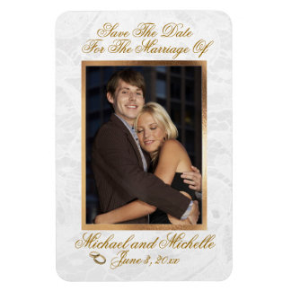 """4""""x6"""" Wedding Save The Date Photo Magnet"""