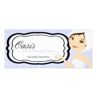"""4""""x9"""" Gift Certificate Blue Damask Spa Massage"""