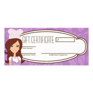 "4""x9"" Gift Certificate Brunette Baker Cup Cakes"