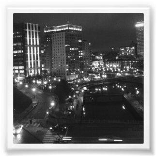 """4"""" x 4"""" impresión de Instagram: Ciudad en la noche Fotografía"""