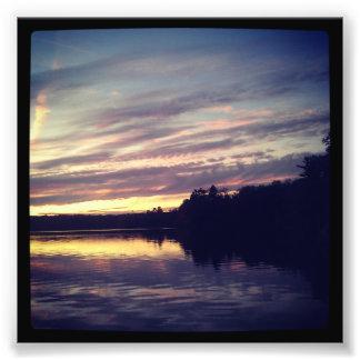 4 x 4 impresión de Instagram Puesta del sol en Fotos
