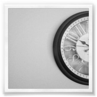 "4"" x 4"" Instagram Print: Clock Photo Print"
