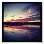 "4"" x 4"" Instagram Print: Sunset On a Lake Photo Print"