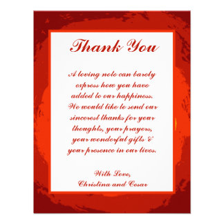 4 x 5 FLAT Thank You Card Red Sunset in Africa