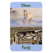 "4"" x 6"" Clean/Dirty Horse Photo Dishwasher Magnet"