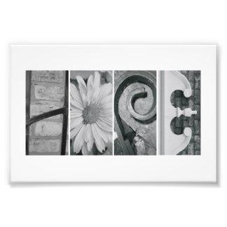 4 x 6 Hope Alphabet Letter Photography Photo Art