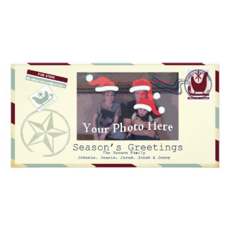 4 X 6 Photo Frame Santa Mail Season's Greetings - Card