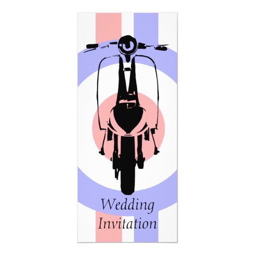 4 x 9 Sixties Scooter Wedding Invitations