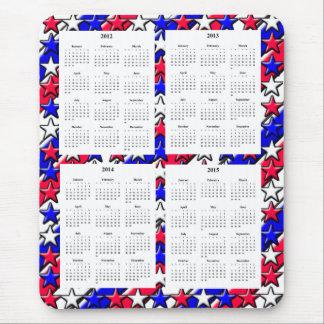 4 Year calendar (2012-2015) Mouse Pad