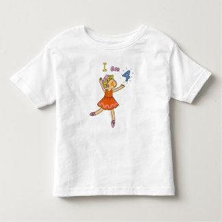 4 year old ballerina toddler t-shirt