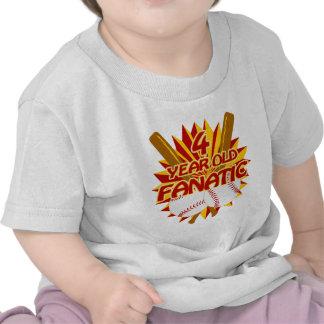 4 Year Old Baseball Fanatic Tshirts