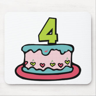 4 Year Old Birthday Cake Mouse Pad