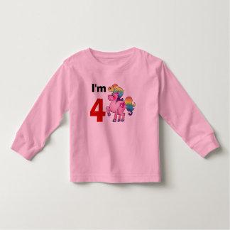 4 year old birthday girl gift ( unicorn pony ) toddler t-shirt