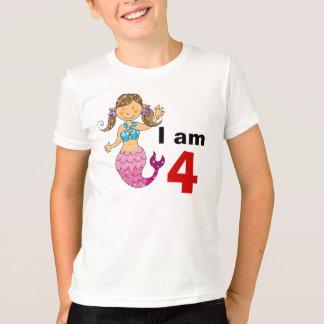 4 year old birthday mermaid girl T-Shirt
