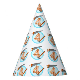 4 year old Birthday Party Builder theme Party Hat