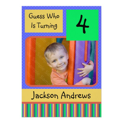 Year Old Birthday Party Invitations BOY 5