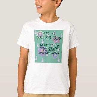 4 Year Old Funny Birthday Gift Tee - Boy or Girl