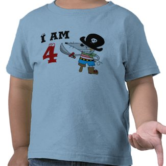 4 year old pirate birthday boy t shirts