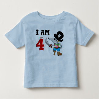 4 year old pirate birthday boy t-shirts