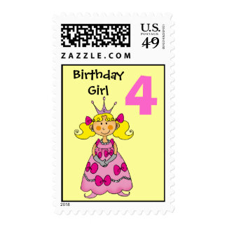 4 year old princess (blonde hair) stamps