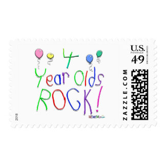 4 Year Olds Rock ! Postage Stamp