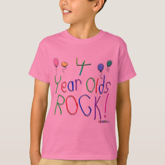 4 Year Olds Rock ! T-Shirt