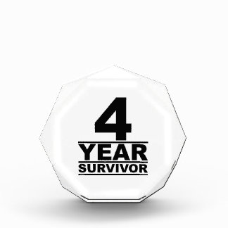 4 year survivor acrylic award