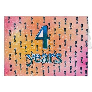4 Years Sobriety Birthday / Anniversary Card