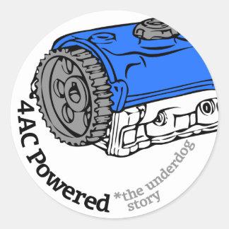 4AC Powered (The Underdog Story) Classic Round Sticker