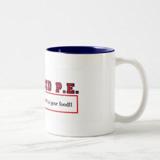 #4ADVANCEDPEprint, chew your juice and drink yo... Two-Tone Coffee Mug