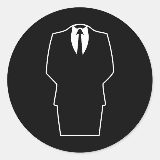 4chan anónimos SA del Internet del icono Pegatina Redonda