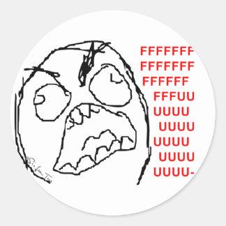 4chan Rage Guy Classic Round Sticker